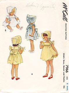 Vintage 1950s Girls Toddlers and Infants by daisyepochvintage, $14.00