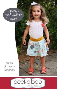 Spunky Girl Skater Skirt | YouCanMakeThis.com