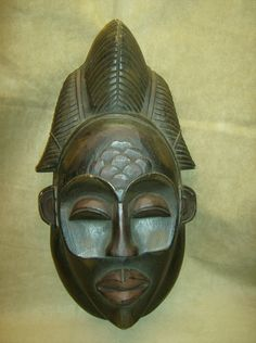 PUNU Tribal Mask African Art Collectibles