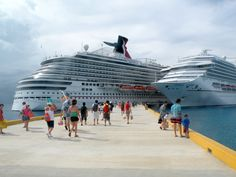 Carnival Magic and Carnival Conquest in Cozumel, Mexico. Carnival Magic will be our ship very soon! World Cruise, Cozumel Mexico, Alaska Cruise, Cruise Vacation, Best Vacations, Sailing, Carnival, Tours, Cruise Ships