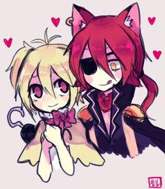 Chica × Foxy = ̄ω ̄=