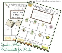 Garden Planner for Kids | Having a Homeschool Garden can be very beneficial to your homeschool and your life. So, why not teach your child to garden right in your own back yard? This two page Garden Planner for Kids is designed to be used as simple notebooking pages or basic worksheets for kids to write down notes and facts as you go through planning a spring garden. It includes: The Soil Worksheet & The Spring Garden Plan