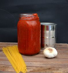 Basic Tomato Sauce - No Oil (adapted Forks Over Knives 1 med. yellow onion, chopped 4 garlic cloves 6 T. minced fresh basil 2 T. minced fresh oregano 1 28-oz can crushed tomatoes 1 15-oz can tomato sauce salt, pepper Lg saucepan, add onions; cook med-low heat 10-15 min. If onions stick, add water (~ ½ c. a T. at a time); onions should be soft. Add garlic, basil, oregano. Stir, cook 5 min. Add crushed tomatoes, tomato sauce, salt, pepper. Stir, cover for 30-45 min. med-low heat.