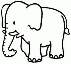 Resultado de imagen de dibujo elefante infantil