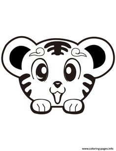 Print Super Cute Tiger Coloring Pages