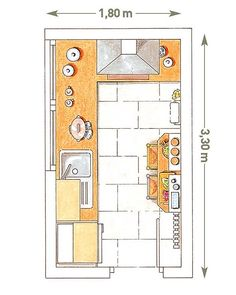 Dise o de casas dibujos on pinterest floor plans small for Diseno cocinas pequenas