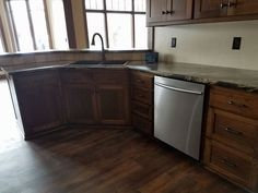 hickory stained kitchen
