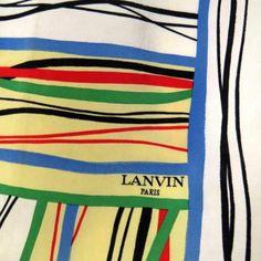 LANVIN TOP 70'S  DESIGNER SILK SCARF