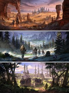 The Elder Scrolls Online Concept art. I signed up for Beta, can't wait to play :3