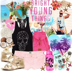 """Bright Young Things: VS Spring Break Style"" by jcari ❤ liked on Polyvore"