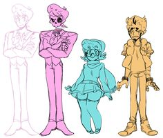 a line up of the mystery skulls ghost crew