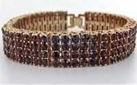 Chocolate Diamonds 4 Row Rose Gold Bracelet $19.00