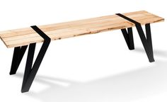 Beautiful Simple Dining Table And Bench By Manuel Welsky