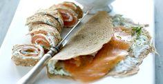 Galettes au saumon fumé et fromage frais