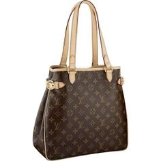 LOUIS VUITTON MONOGRAM CANVAS BATIGNOLLES VERTICALID M51153 -Carried by hand or on the shoulder -Comfortable leather handles -Interior D-ring to attach a pouch or key-ring -Golden brass pieces