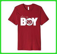 Mens That's My Boy #20 T-Shirt Soccer Mom Soccer Dad Tee 3XL Cranberry - Sports shirts (*Amazon Partner-Link)