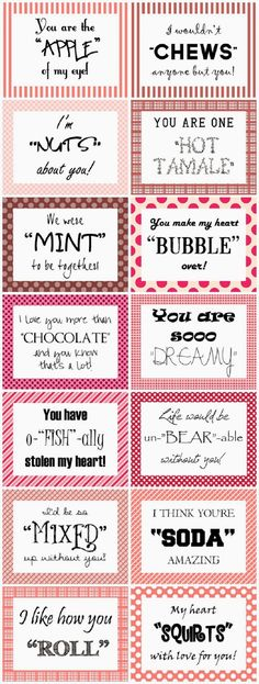 Bit Cheesey but . cute for Valentine Care packages - Heart Expressions Design… Funny Valentine, Valentine Day Crafts, Be My Valentine, Valentine Sayings, Valentine Ideas, Kids Valentines, Diy Gifts For Him, Cute Gifts, Funny Gifts