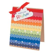 Scallop Rainbow Card Project Idea