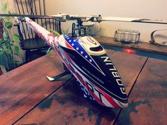Goblin 500 Sport USA Edition by helidirectrc Canopy Design, Rc Helicopter, Radio Control, Helicopters, Goblin, Golf Bags, Planes, Aircraft, Usa