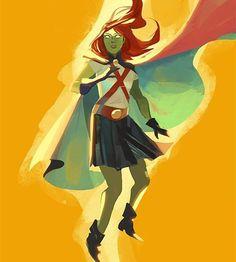 Miss Martian by seventypercentethanol on @tumblr  #missmartian #youngjustice #superboy #martianmanhunter