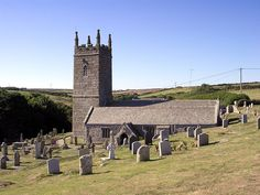 St. Levan's Church, St Levan, Cornwall. A medieval church heavily rebuilt in the 12th century + extended in the 15th century. St Levan (properly Selevan, a Celtic form of Solomon) according to the Life of St Kybi was a Cornishman + the father of Kybi. On the cliff at St Levan is St Levan's Well + below it the probable remains of his chapel, described by William Borlase in his Antiquities. The tower contains three bells dating from 1641, 1754 and 1881.