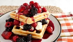 Waffles Many Ways and More Best Brunch Offerings Breakfast And Brunch, Breakfast Recipes, Dessert Recipes, Desserts, Hotel Breakfast, Sunday Brunch, Belgian Waffle Mix, Belgian Waffles, Waffle Mix Recipes