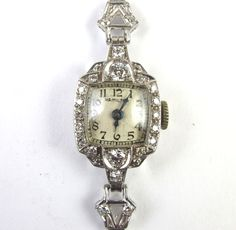 Art Deco Platinum & Diamond Ladies Hamilton Watch...Momma had a watch like this...and also a black one....