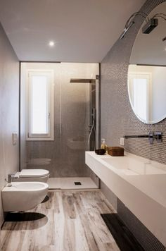 Explore these bathroom decor ideas for your small space. Get storage ideas, tile ideas, and ideas for your next remodel with our favorite small bathroom decorating ideas! Bathroom Layout, Bathroom Interior, Modern Bathroom, Small Bathroom, Master Bathroom, Bathroom Ideas, Bathroom Pictures, Bathroom Inspo, Bathroom Organization