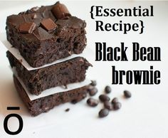Flourless Black Bean Brownies Recipe It is so nice to find great dessert recipes that are dairy free and gluten free! These Brownies would be great for Memorial Day gatherings. These Black Bean Brownies are a delicious and nutritious twist to a traditional... #blackbeans #brownies #essentialoils