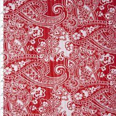 41ff95744ff Cali Fabrics Red and White Paisley 'Tutti Frutti' Plissé Fabric by the Yard