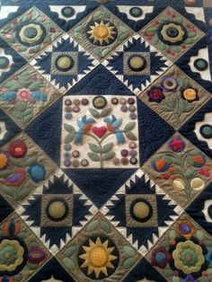 Pennies from Heaven ~ my current project.  Applique blocks are almost done then I'll be ready to work on the rest.