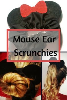 Mouse ear scrunchies are a fun way to show Disney love! Mickey & Minnie ears available. Mouse ear scrunchies are a fun way to show Disney love! Mickey & Minnie ears available.