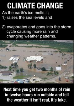 Wouldn't it be nice if all the flooding could occur to just those that are busy denying what everyone else can easily see.