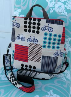 PDF Sewing Pattern Tote and Shoulder Bag Convertible Bag. $6.00, via Etsy.
