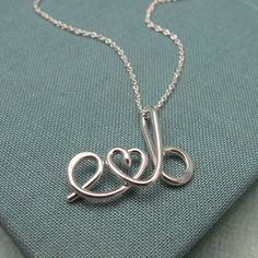 Two Lovers-Custom Initials Necklace. via Etsy.