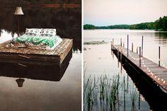   Casas junto al lago: decoración de muelles y embarcaderos