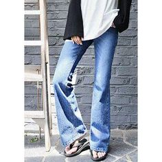 YesStyle - GOROKE Washed Boot-Cut Jeans - AdoreWe.com