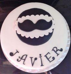 TARTA MOUSTACHE FONDANT, FONDANT CAKE MOUSTAGE