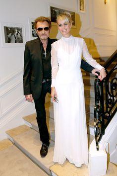 Johnny et Laeticia Hallyday à la semaine de la Haute Couture.