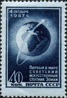 Postcard celebrating Sputnik 1's launch.
