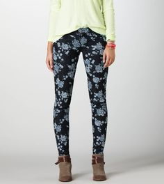 Waiting for the day when i can wear normal pants... Floral Jegging   American Eagle Outfitters