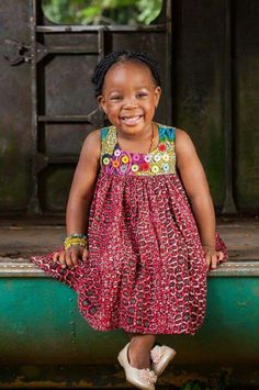 Check out the cutest ankara dresses for kids. These African print dresses for little girls with give you great ideas on making ankara print dresses for your girls. Ankara Styles For Kids, African Dresses For Kids, African Children, African Inspired Fashion, African Print Fashion, African Fashion Dresses, African Attire, African Wear, Little Girl Dresses