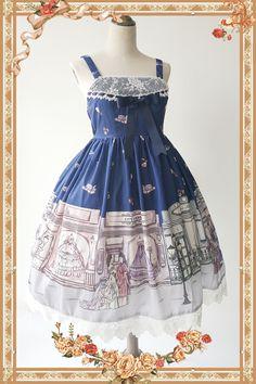 【Infanta.婴梵塔】LOLITA*古董洋装店* 原创印花JSK 连身裙 4色-淘宝网