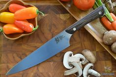 "The Shun Kanso 8"" chef knife is the one knife that every kitchen needs. The chef's knife is perfect for chopping, slicing, preparing fruits, cutting vegetables and any other task that is required. The"