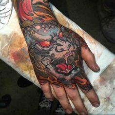Colorful Monster Hand Tattoo   #Tattoo, #Tattooed, #Tattoos