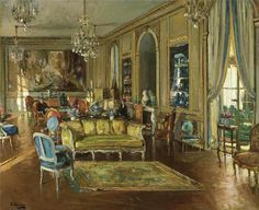 The Salon, 901 Fifth Avenue (Sir John Lavery, R.A. - 1926)