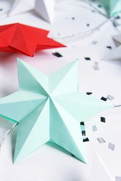 Pinjacolada: DIY paper star lights