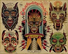 devilface tattoo traditional - Cerca con Google