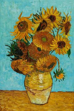 Van Gogh - Sunflowers This is my favorite piece by Vincent Van Gogh because he d. - Van Gogh – Sunflowers This is my favorite piece by Vincent Van Gogh because he didn't paint the - Famous Art Paintings, Simple Canvas Paintings, Van Gogh Paintings, Canvas Art, Famous Impressionist Paintings, Van Gogh Drawings, Diy Canvas, Vincent Van Gogh, Van Gogh Tapete