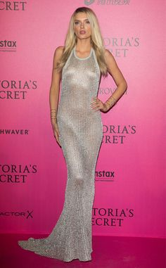 Lily Donaldson from Victoria's Secret Fashion Show 2016 Pink Carpet Arrivals  The British stunner turned up the heat in this sexy metallic look.